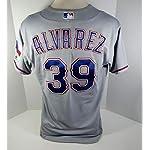 0659d3550cb 2017 Texas Rangers Dario Alvarez  39 Game Issued Grey Jersey RNGRS170 - Game .