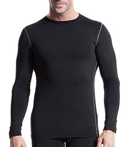 トライアスリート間違いなくカテナ(ランバオシー)Lanbaosi メンズ 長袖 防寒下着 スポーツ シャツ 裏フリース コンプレッションウェア アウトドア スポーツ ジョギング トレーニング アンダーウェア