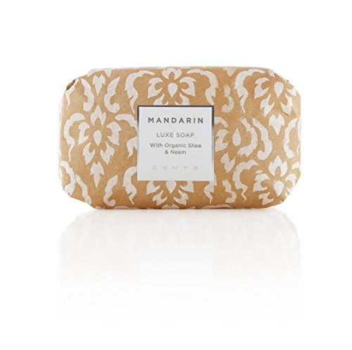 - Zents Luxe Soap, Mandarin, With Organic Shea Butter and Neem Oil, 5.7 oz/163 g