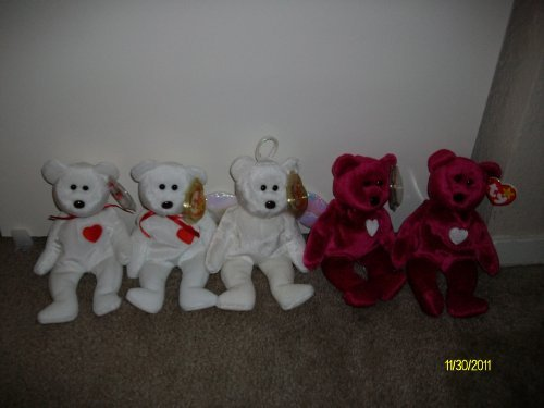 Set of 5 Valentine's Day/Love Beanie Babies (2-Valentino's, for sale  Delivered anywhere in USA