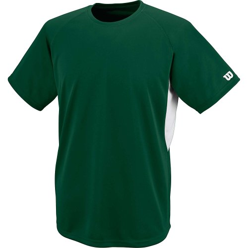 Wilson Sporting Goods Double Bar Mesh Crew Neck Jersey Dark Green