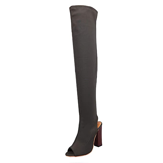 0f3908ab9083b Amazon.com: Gyoume Women Long Sandal Boots Over Knee Boots Winter ...