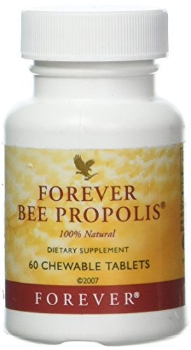 Forever Bee Propolis 100% Natural - 60 Chewable Tablets by Forever