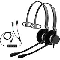 Jabra Soft Phone/PC USB Training Supervisory Kit, w/ Two Jabra Biz 2300 Mono QD Headsets