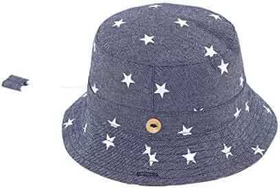 58e5a25fb4b82 AWAYTR Baby Toddler Sun Hat - Kids Breathable Cotton Sun Protection Bucket  Hats