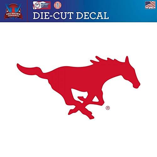 Victory Tailgate Southern Methodist University Mustangs SMU Die-Cut Vinyl Decal Logo 2 (24 Inch)
