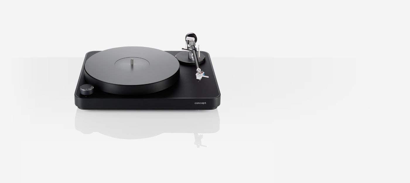 Clearaudio Concept mm V2 Black TP065/mm Black Tocadiscos a correa ...