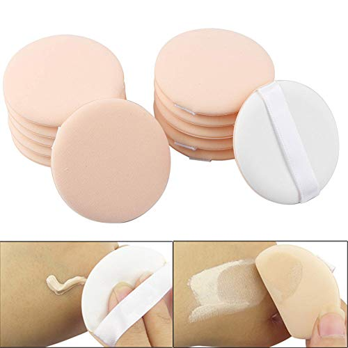 Luckycivia 2.2 Inch 20 Pieces Cosmetic Powder Puff, Soft Sponge Foundation Makeup Tool, BB Cream Foundation Sponge Air Powder Puff, for Loose Powder, Face Powder and Foundation Powder