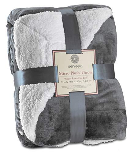 Find Bargain Genteele Sherpa Throw Blanket Super Soft Reversible Ultra Luxurious Plush Blanket