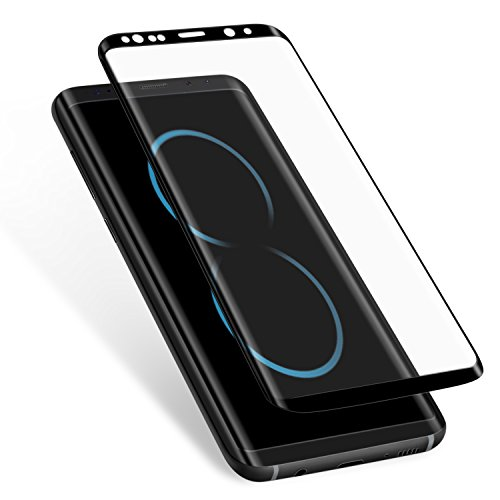 Galaxy S8 Plus Screen Protector,Elebase [Case-Friendly] [Anti-Scratch] [Anti-Bubble] [9H Hardness] [HD Clear] 3D Curved Tempered Glass Screen Protector for Samsung Galaxy S8 Plus (Black)