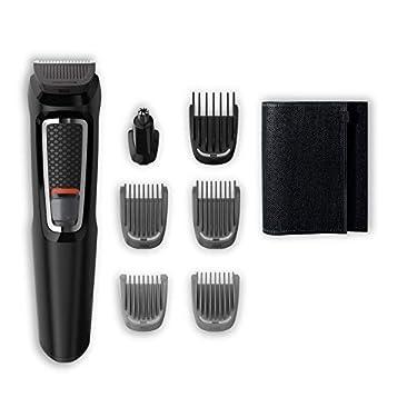 Philips-MG372015-Recortadora-para-barba-y-pelo-7-en-1-accesorios-para-nariz-y-orejas-cortapelos-cara-y-cabeza-60-minutos-de-autonomia-Negro