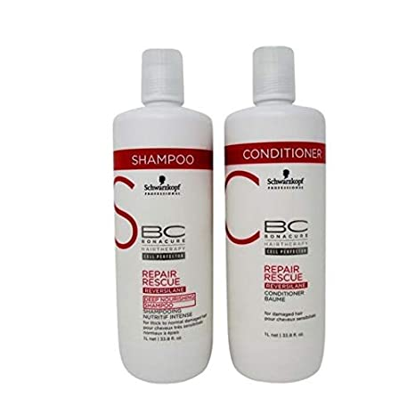 Schwarzkopf Bonacure Repair Rescue Shampoo and Conditioner Liter Duo Set Hair Care & Styling at amazon
