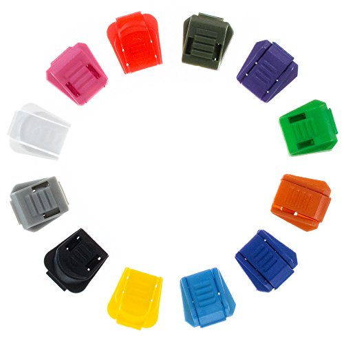 Craft County DIY Plastic Zipper Pull Tabs - Bright Color Selection - Pack Sizes of 5-100