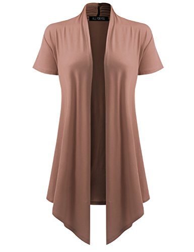 Womens Drape Cardigan Short Sleeve