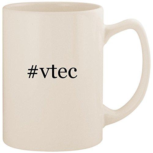 #vtec - White Hashtag 14oz Ceramic Statesman Coffee Mug Cup