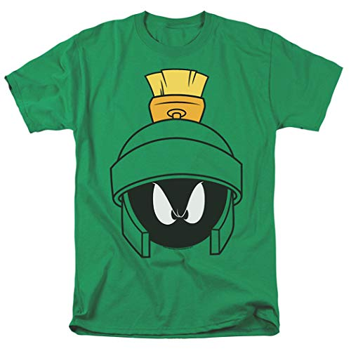 Looney Tunes Marvin Helmet T Shirt & Exclusive Stickers (X-Large)