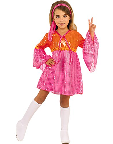 Rubies Costume Child's Go Go Girl Costume, Pink, Medium (White Gogo Boots For Kids)