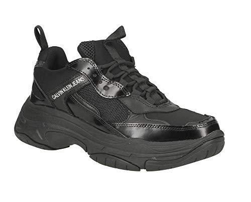 Klein Nylon Baskets Nylon Calvin Jeans Mode Homme Calf metal nappa Noir Black Marvin 5RAj4Lq3