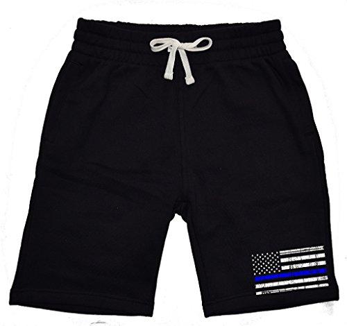 Men's Thin Blue Line Police Flag Black