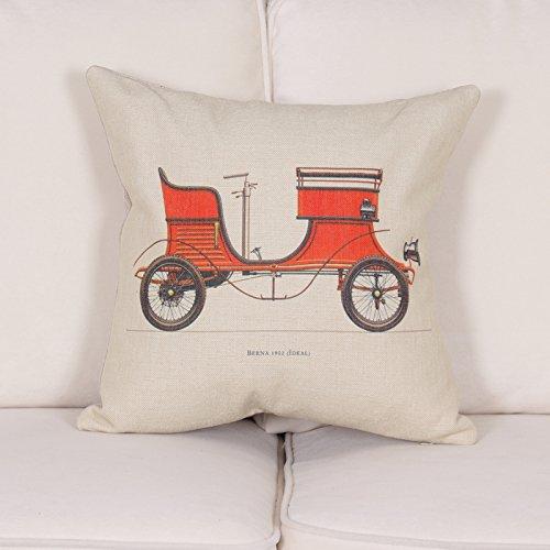 harnod (TM) cojín lino funda de almohada Old Cars funda de ...