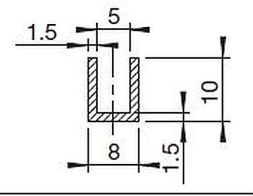 2302 Noir noir Profil de cadre EUTRAS FP3004 pour protection de cadres Joint en caoutchouc Intervalle de 5/mm