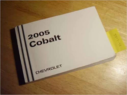 owners manual for chevy cobolt