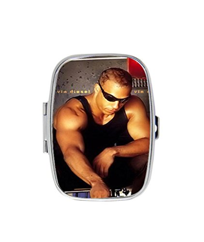 Vin Diesel Sunglass Muscle DIY Rectangle Slim Stainless Steel Pill Case Box Holder Hot Gift RobinWork - Sunglasses Case Diy