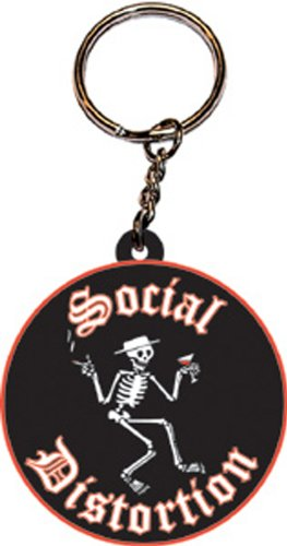 Licenses Products Social Distortion Rubber Keychain