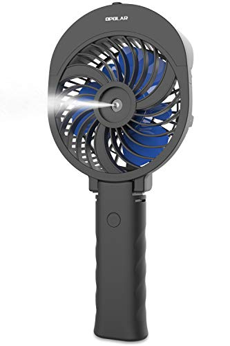 OPOLAR Handheld Misting Fan, 2600mAh Battery Operated Portable Fan with Personalized Cooling Humidifier, Water Spray Fan, Quiet USB or Rechargeable Battery Powered, 3 Settings Mini Mister Fan by OPOLAR