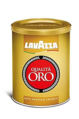 Lavazza Qualita Oro Ground Coffee Blend, Medium Roast, 8.8-Ounce Cans