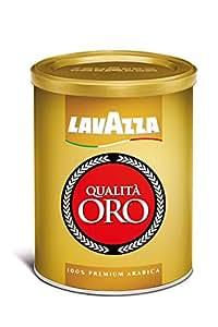 Lavazza Qualita Oro Medium Roast Ground Coffee, 8.8-Ounce Cans (Pack of 4)