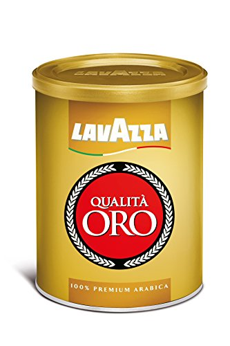 Lavazza Qualita Oro Medium Roast Ground Coffee, 8.8-Ounce Cans (Pack of 4)
