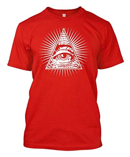 Eye Of Providence - All Seeing Eye Men's T-shirt (Medium, RED)