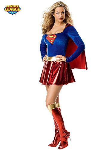 [Secret Wishes Sexy Supergirl Costume, Red, L (10)] (Sexy Super Girl Costumes)