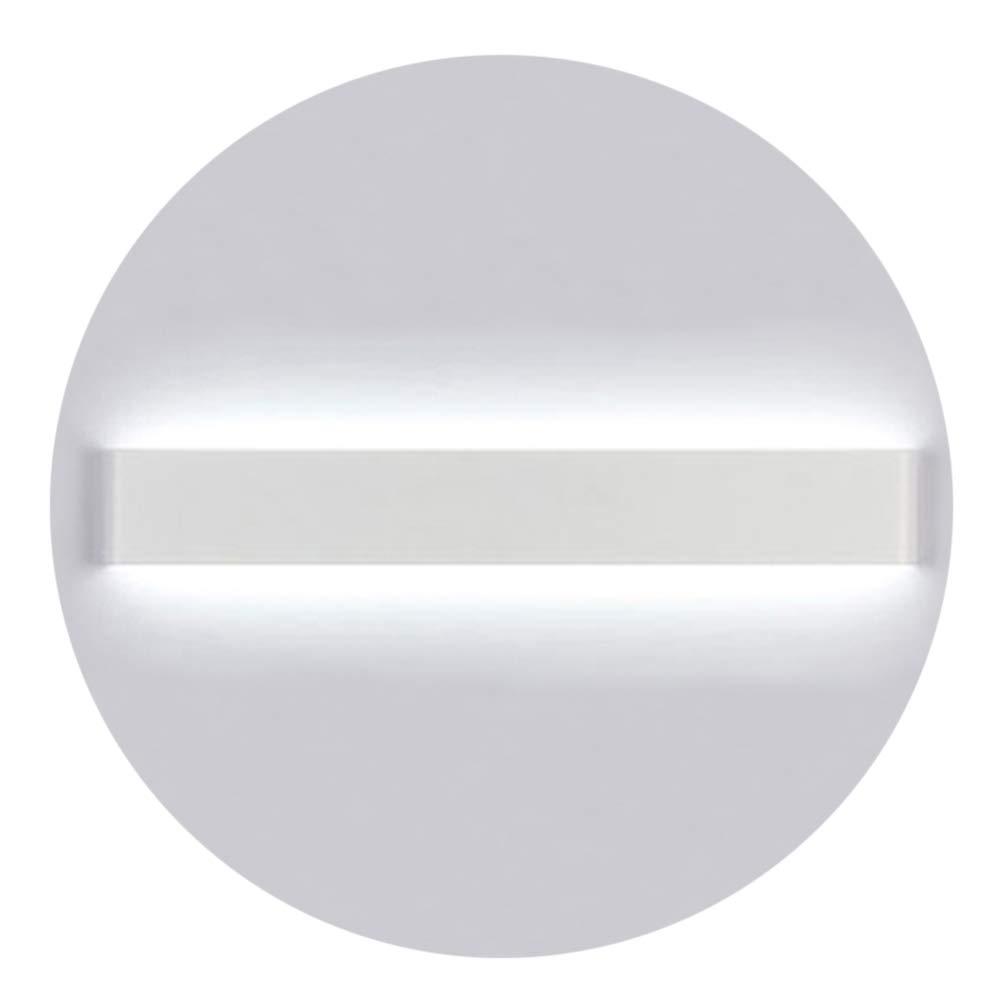 K-Bright LED Spiegelleuchte Bilderleuchte, 16W, 20 Zoll Schranklampe Wandleuchte aus Aluminum, LED Weiß Spiegellampe, IP44, AC 86-265V, 6000-6500K Weiß, Schwarzes Schale [Energieklasse A+] LED Weiß Spiegellampe 6000-6500K Weiß