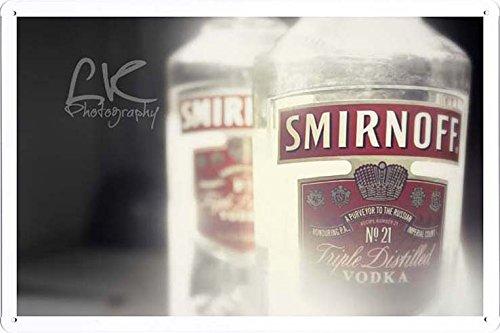 Food & Beverage Decor Sign Smirnoff Vodka Tin Poster