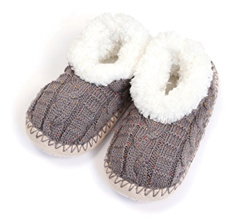 Womens Sweater Gray Everything Cable Slippers Do Knit Love Heather in Bootie House vwtYOxpF