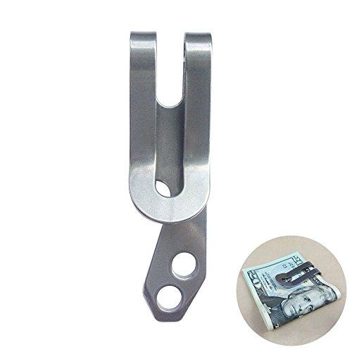 Vktech® Stainless Steel EDC Multifunction Tool Belt Key Chain Money Clip Bottle Opener ()