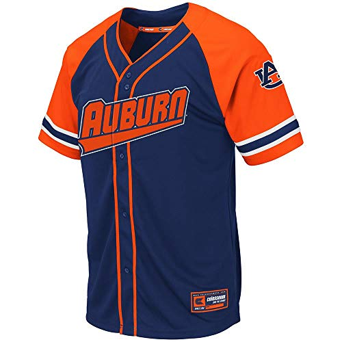 Colosseum Mens Auburn Tigers Wallis Baseball Jersey - 2XL