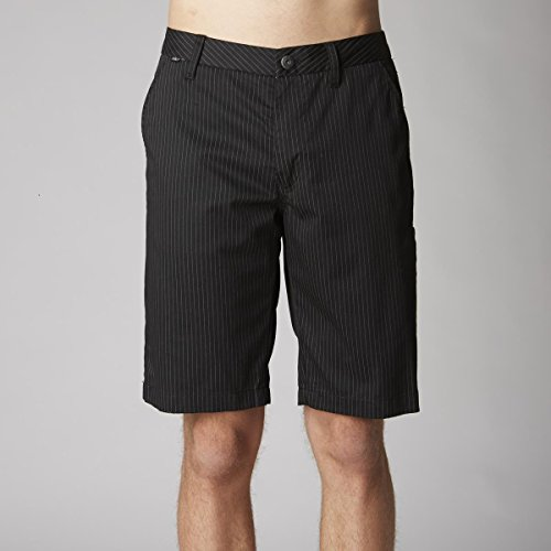 Fox Men's Essex Pinstripe Short, Black, 32 (Twill Shorts Stripe Cotton)