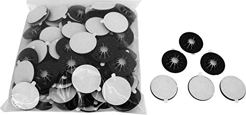 100 Black Adhesive Backed Spider CD / DVD Hubs (Rosettes) - #CDNRSPBK - For Gluing into a Double or Triple Chubby CD Jewel Box To Increase Capacity! (Also Called Hubcaps or Caps) ()