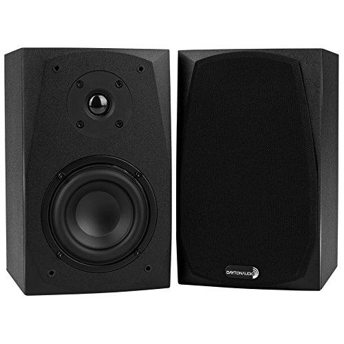 Dayton Audio MK402 4″ 2-Way Bookshelf Speaker Pair