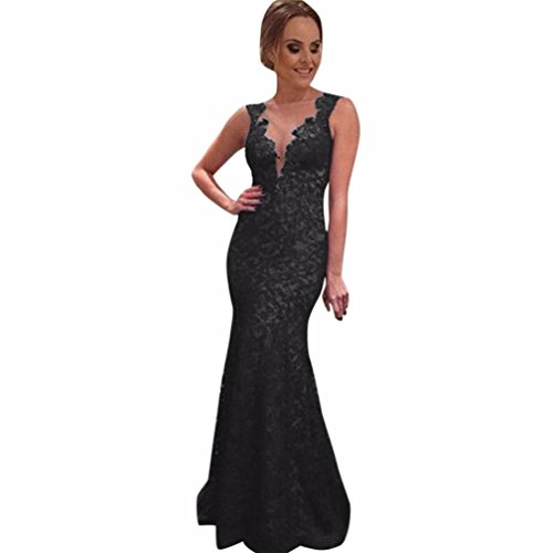 Clearance Sale! Wintialy Women Long Dress Lace Evening Party Prom Bridesmaid Ball Gown Dresses - Knit Butterfly Gown