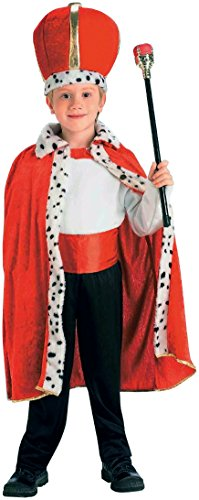 King Robe And Crown Set Kids Costumes (Forum Novelties Child Size King Accessory Set, Red)