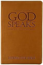 God Speaks Study Bible Brown Imitation Leather NET
