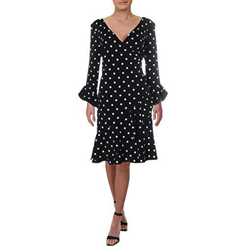 Lauren Ralph Lauren Women's Varsha Driver Dot Crepe Dress Lighthouse Navy/Colonial Cream 4