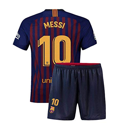 Claysydo Youth  10 Messi Kids 2018 19 Home Soccer Jersey   Shorts Boys  Barcelona (Blue 7b69eb5e4