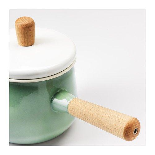 Cazo con tapa KASTRULL, verde, tamaño 1,5 l, fabricado en ...