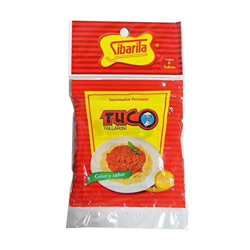 Sibarita Tuco Tallarin - Spaghetti Seasoning - Imported from Peru - 1.97 ounces - 6 Packets Inside ()