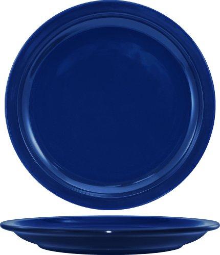 Narrow Rim Dinner Plate - ITI CAN-16-CB Cancun Narrow Rim Dinner Plate, 10-1/2-Inch, 12-Piece, Cobalt